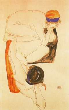 Egon Schiele, Two Female Nudes, 1912