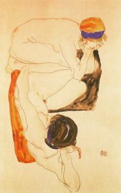 Egon Schiele, Two Female Nudes, 1912