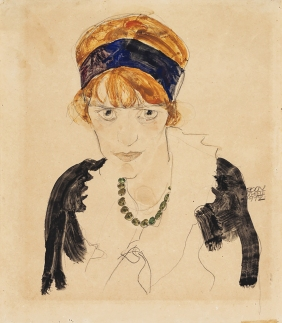 Egon Schiele, Wally, 1912, Watercolour, gouache, and pencil on paper.