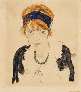 Egon Schiele, Wally, 1912, Watercolour, gouache, and pencil on paper.