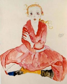 Girl', by Egon Schiele, 1911.