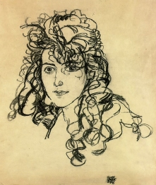 Madame Sohn, charcoal drawing, 1918 by Egon Schiele.