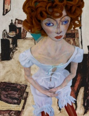 Wally Neuzil muse, inspired by her relationship with Schiele and the way he painted her. Designed, sculpted, modelled and painted by Marina Elphick