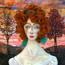 My muse, Walburga Neuzil, or Wally as she was known to her family and friends. Designed, sculpted, modelled and painted by Marina Elphick.