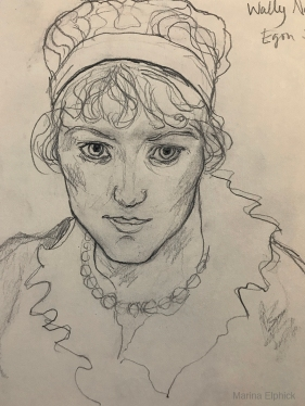Drawing of Wally by Marina Elphick.