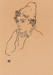 Egon Schiele's Head of a woman 1918.