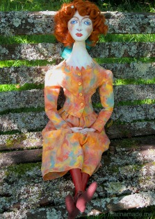 Muse of Wally Neuzil, designed, sculpted, modelled and painted by Marina Elphick.