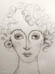 Sketch of Wally by Marina Elphick.