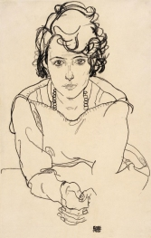 Seated woman, Egon Schiele 1918.