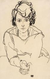 Seated woman, Egon Schiele 1918.