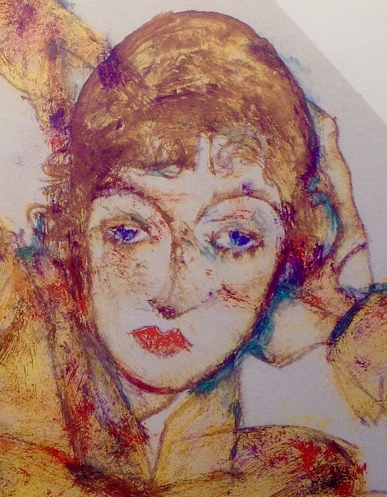 Wally detail from 'Woman in orange stockings'.