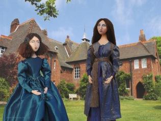 Sisterhood. Georgiana Burne-Jones muse designed, sculpted, modelled and painted by Marina Elphick.Marina's muses at marinamade.me