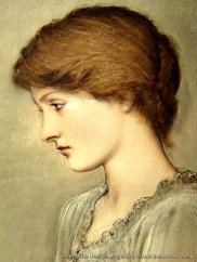 Portrait of his daughter, Margaret, by Edward Burne-Jones