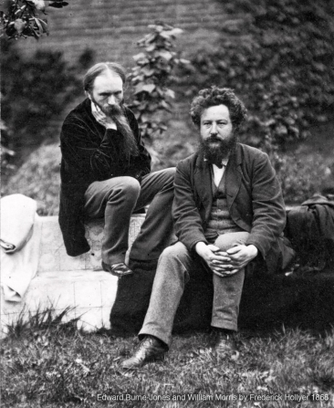 Edward Burne-Jones and William Morris, photograph by Frederick Hollyer in 1868.
