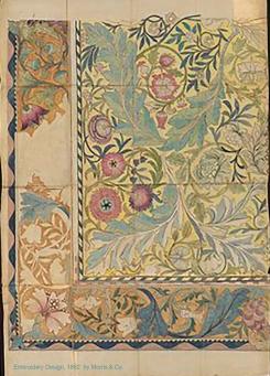 Embroidery design by Morris & Co.1862. Georgiana Burne-Jones