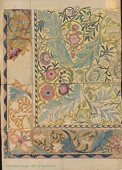 Embroidery design by Morris & Co.1862. Georgiana Burne-Jones