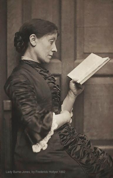 Georgiana, Lady Burne-Jones photographed by Frederick Hollyer 1882.