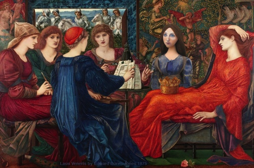 """Georgiana muse set in """"Laus Veneris"""", painted by Edward Burne-Jones.Georgiana Burne-Jones muse designed, sculpted, modelled and painted by Marina ElphickGeorgiana Burne-Jones muse designed, sculpted, modelled and painted by Marina Elphick. Marina's muses at marinamade.me"""