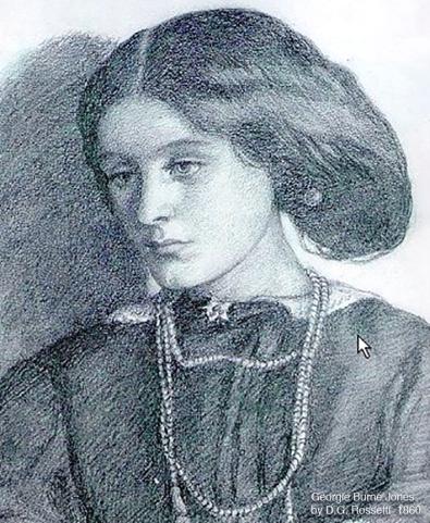 Georgiana Burne-Jones portrayed by Dante Gabriel Rossetti 1860, the year she was married to Edward .