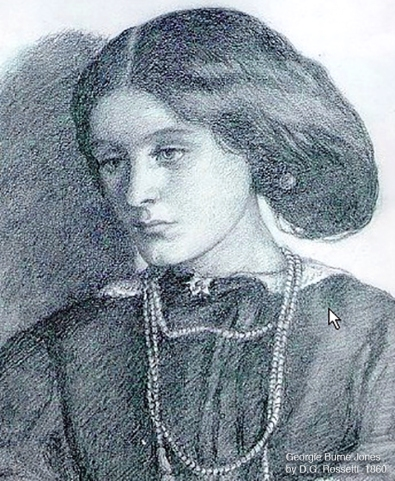 Georgiana Burne-Jones portrayed by Dante Gabriel Rossetti 1860, the year she was married to Edward .