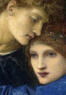 'Love Among The Ruins' detail by Edward Burne-Jones.