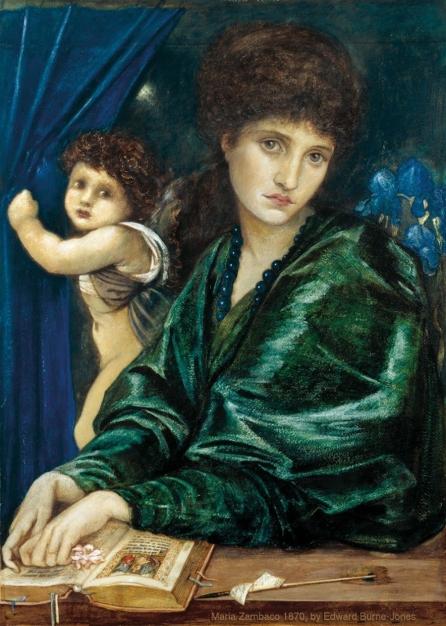 Maria Zambaco 1870, by Edward Burne-Jones.