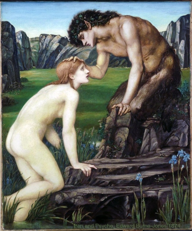 """Pan and Psyche"", 1874, by Edward Burne-Jones."