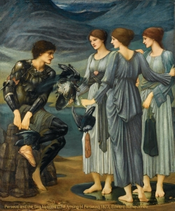 Perseus and The Sea Nymphs (the arming of perseus) 1877, Edward Burne-Jones.