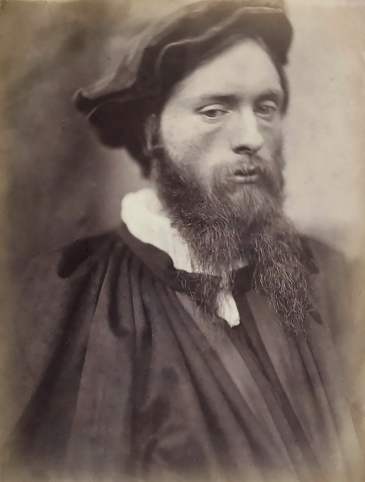 Edward Burne-Jones as a young man. Photograph taken by David Wilkie Winfield, c 1860.
