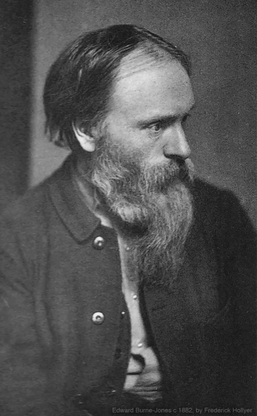 Edward Burne-Jones portrait, photographed by Frederick Hollyer in 1882.
