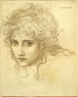 Pencil portrait of Maria Zambaco by Edward Burne-Jones.