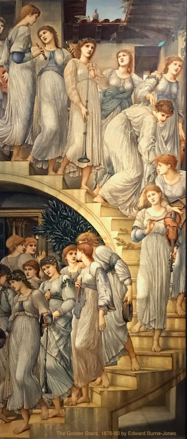 """The Golden Stairs"" 1876-80 by Edward Burne-Jones. Georgiana Burne-Jones muse designed, sculpted, modelled and painted by Marina Elphick."