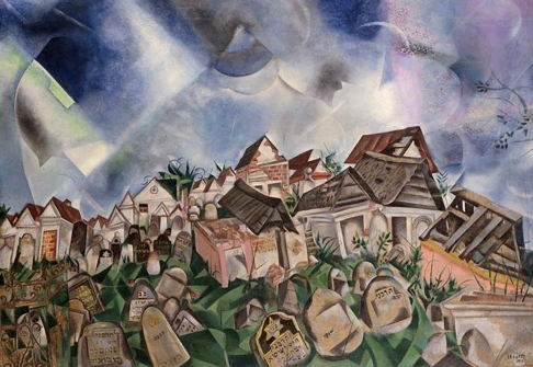 'Cemetery, by Marc Chagall, 1917.
