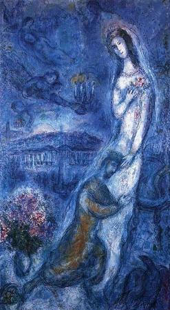 'Bathsheba', by Marc Chagall, 1963. Bella Rosenfeld, Bella Chagall.