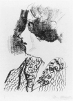 Bella in profile, Chagall 1922–1923
