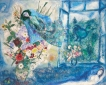Bella in 'The Bouquet by the window', Marc Chagall, 1959-60. Bella muse, Chagall's wife and eternal love and inspiration, made by Marina Elphick in soft sculpted form, as one of Marina's muses. Bella Rosenfeld, Bella Chagall.
