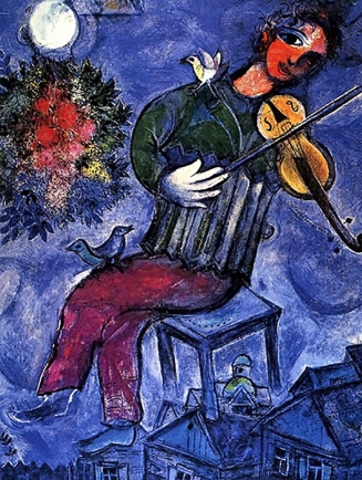 'Blue Violinist' by Marc Chagall, 1947.