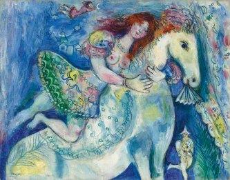 'Danseuse au Cirque', Marc Chagall, 1929.
