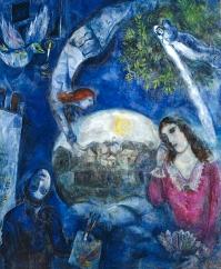 'Around Her', by Marc Chagall, 1945. Bella Rosenfeld, Bella Chagall.