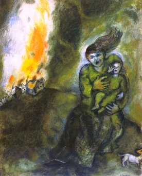 'Fire In the Snow', Marc Chagall, 1940.