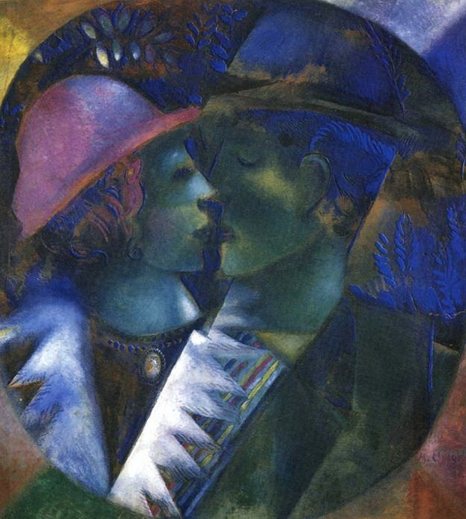 Green Lovers, Marc Chagall, 1914.