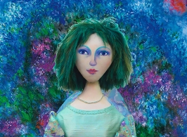Bella muse, Chagall's eternal love and inspiration, made by Marina Elphick in soft sculpted form. Bella Rosenfeld, Bella Chagall.