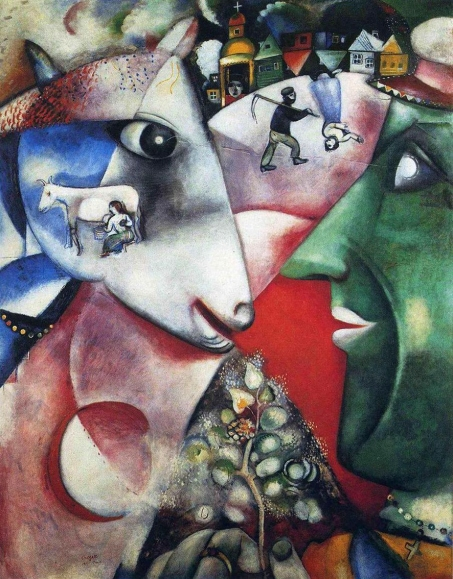 'I and the Village' 1911 by Marc Chagall.