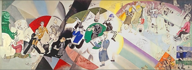 Introduction to the Jewish Theatre, 1920 by Marc Chagall.