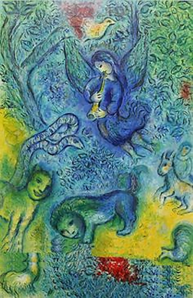 La flûte Enchantée (The Magic Flute), 1967 ,by Marc Chagall.