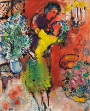 Couple au chandelier, by Marc Chagall.