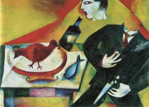 The Drunkard, Marc Chagall, 1911-12.