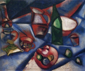 Marc Chagall, 1912, Still-life with fruit.