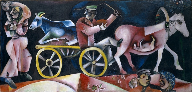 Marchand de Bestiaux (The Cattle Drover, or Dealer) by Marc Chagall, 1912