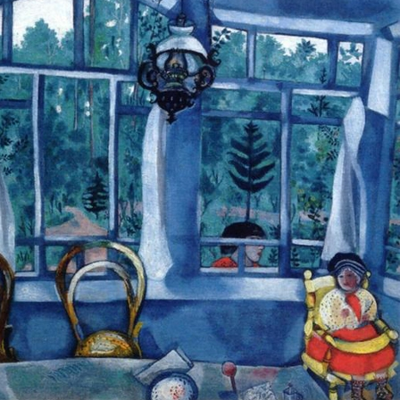 Window Over A Garden, by Marc Chagall, 1917.